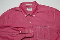 Tommy Bahama Mens Button Down Shirt Size XLX Tencel Lyocell Cotton Pink