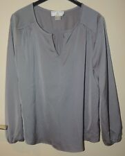 dac7e593cd5c6a langärmlige Damen Bluse Grau Polyester Gr. 38 Rick Cardona HEINE
