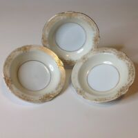 Vintage Noritake Gastonia Hand Painted Fine China Fruit Bowls Set Of 3 Gold Trim