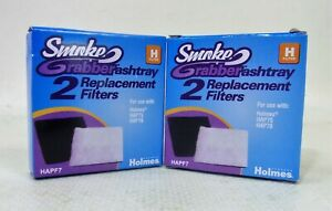 Lot of 4 Genuine Holmes Smoke Grabber Ashtray H Filters 2-2 Packs HAP75 & HAP76