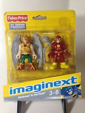 Fisher Price Imaginext DC Super Friends Hawkman The Flash Action Figures 2010 F6
