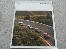 1985 Ford Escort Wagon, LTD Wagon, Crown Victoria Wgn, Club Wagon Sales Brochure