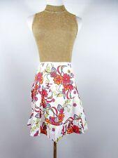 ESPRIT Women's Vtg Look Floral Print Cotton Summer Casual Circle Skirt sz L BI19