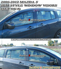 Window Rain Guard Visors (Tinted) Fits 06-15 Mazda 5