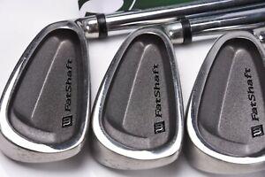 Wilson Fatshaft Irons / 3-SW / Regular Flex Platinum Fat Shafts / WIIFAT184