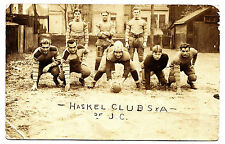 Football Team, Haskel Club S & A, J.C. Jersey City NJ RPPC