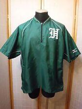 """Mizuno Green Short Sleeve 1/3 Zip Up Windbreaker Golf Jacket Men L """"Excellent"""""""