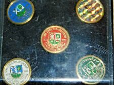 More details for set of 5 golf markers st. andrew's 26th open 129th open championship 1873 - 2000
