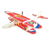 Avión De Espuma De Lanzamiento A Mano Eléctrico Avión De Carga Usb Oscilaci S7A6