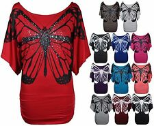 Scoop Neck Batwing Sleeve Casual Other Tops for Women
