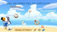 COMPLETE Shell and Summer Shell DIY Set: Animal Crossings New Horizons