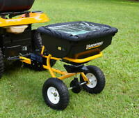 Heavy Duty 85 lb Tow Behind Broadcast Spreader ATV Garden Tractor Seed Spreading