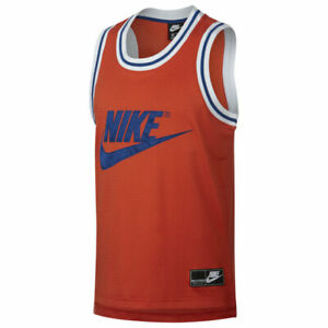 Nike Sportswear Statement Mesh Logo Tank Top Orange Men's Large BNWT