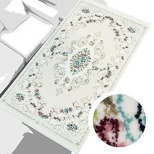 Tapis Qualité Premium Trash salon acrylique fleurs Cream Rose 80x150 cm