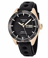 Tissot Men's PRS 516 Black Dial Leather Strap Powermatic 80 Watch T1004303605100