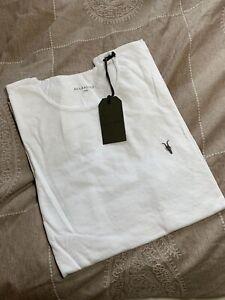All Saints Herren White Tee / T-Shirt Gr. L / Neu Mit Etikett / Sommer Shirt