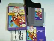 Nintendo NES Disney Mickey Mousecapade Game Cartridge Box and Instructions