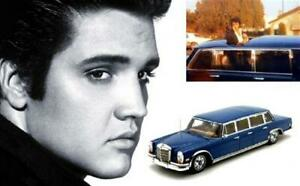 1:43 Truescale Mercedes Benz 600 Limousine 1969 Blue Elvis Presley TSM144339 Min