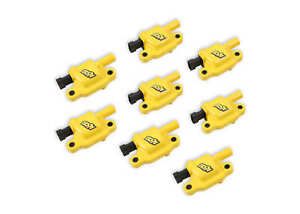 Accel 140043-8 SuperCoil Ignition Coils - Yellow, 8-pack