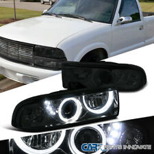 98-04 Chevy S10 Blazer Pickup Smoke Lens SMD LED Halo Projector Headlights