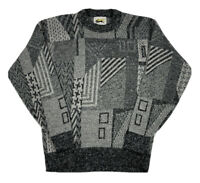 VTG Le Tigre Men's Knit Sweater Size XL Gray Cosby Coogi 90s Made In USA