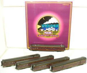MTH 20-6514 O Norfolk & Western 70' Streamlined Passenger Car Set (Set of 5) LN