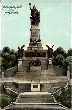 Rüdesheim Hessen AK ~1914 National Denkmal Niederwald Heliocolor Verlag Zieher