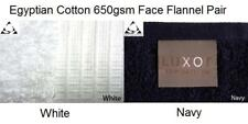 EGYPTIAN COTTON 650GSM FACE FLANNELS White or Navy