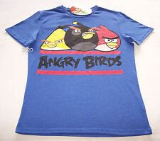 Angry Birds Mens Blue Marle Printed T Shirt Size XS New