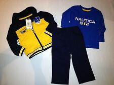 NWT $54.50 NAUTICA 3pc set  shirt, jacket BOY size 12M multi color
