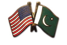 Pakistan Friendship with US Flag Lapel Badge Pin