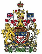 Canadian Coat of Arms Waterslide Decal Sticker for Guitars & Much More S811