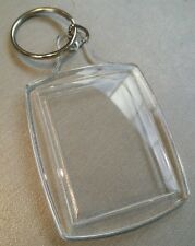 100x Blank Clear Acrylic Keyring 35x45mm Insert Craft Wholesale Keychain.