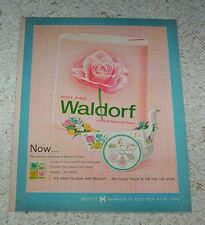 1963 print ad page - Scott Waldorf Pink bathroom tissue VINTAGE advertising
