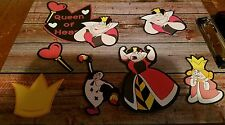 Disney's Queen of Hearts printed scrapbook page die cut set #1