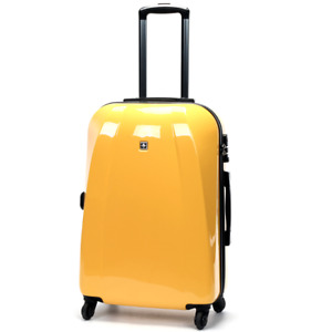 "Swiss Luggage Carry On Travel Hard Case Suitcase Lightweight TSA SN6104A 20"""