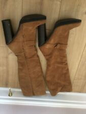 Warehouse tan suede knee boots size 8