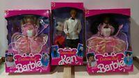 Lot of 3 COSTUME BALL Barbie Ken Dolls 1990
