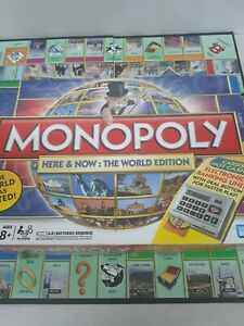 Monopoly Here & Now: The World Edition 2008 Board Game untested used