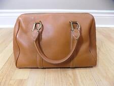 CHRISTIAN DIOR Handbag - Beautiful Brown Leather Bowler Zip Closure Purse