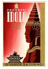 POSTCARD ITALIAN IDOLO PERFUME COSMETIC PRODUCT ADVERTISING