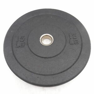 15 lb Olympic Bumper Weight Plate