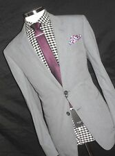 BNWT LUXURY  MENS  PAUL SMITH  LONDON  COTTON  GREY  TAILOR-MADE  SUIT 44R W38