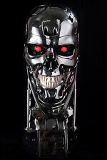 The Terminator Schwarzenegger T2 T800 Skull - resin- figure-LED.