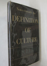 Literature T. S. Eliot Notes Definition of Culture DJ 1st American Edition 1949