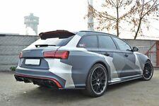 Cup Diffusor ansatz schwarz für Audi RS6 4G C7 Avant Heckansatz Flap Splitter A6