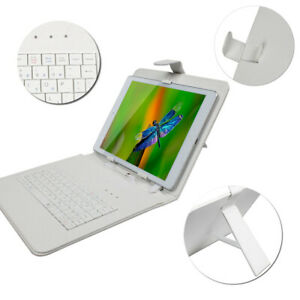Generic 9.7' inch Micro USB Keyboard & Cover Case For 4:3 Tablet PC White
