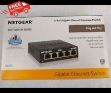 NETGEAR GS305 5 Port Gigabit Ethernet Network Switch Ethernet Splitter Hub Black