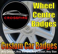 Chrysler Crossfire Wheel Centre Cap Badges (black/chrome/red)