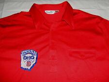 Vintage Usssa Ohio Baseball Xxl 2Xl Red Embroidered Four Button Polo Shirt Exc